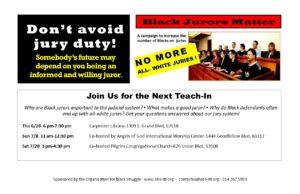 Black Jurors Matter Teach-In @ Angels of God International Worship Center | St. Louis | Missouri | United States