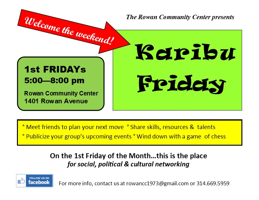 Karibu Friday @ Rowan Community Center | St. Louis | Missouri | United States